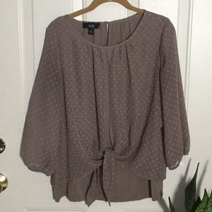 AGB soft gray blouse size L